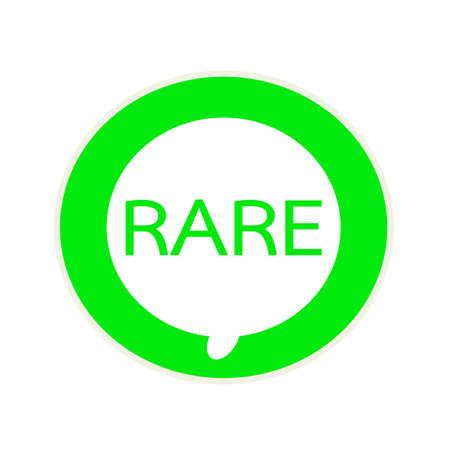 rare: RARE green wording on Circular white speech bubble