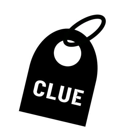 clue: Clue white wording on background black key chain