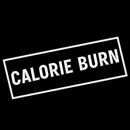 calorie: CALORIE BURN white wording on rectangle black background Stock Photo