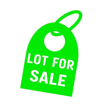 key chain: lot for sale white wording on background green key chain Stock Photo