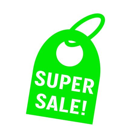 key chain: super sale white wording on background green key chain