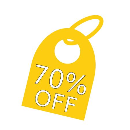 off white: 70% OFF white wording on background yellow key chain