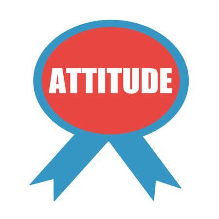 attitude: ATTITUDE white wording on background red ribbon Stock Photo