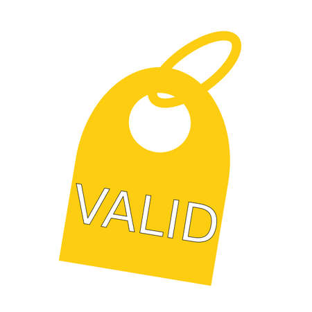 valid: valid white wording on background yellow key chain