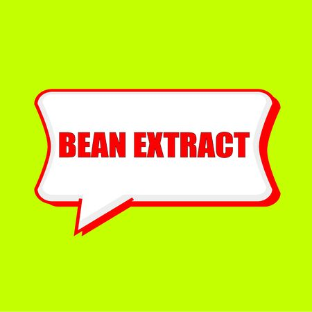 extract: bean extract red wording on Speech bubbles Background Yellow lemon