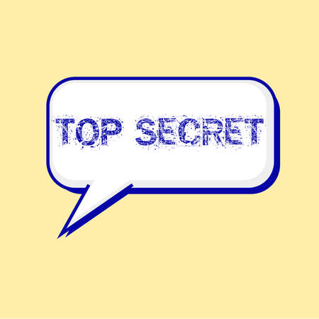 secret word: top secret blue wording on Speech bubbles Background Yellow-White