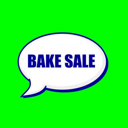 bake sale: BAKE SALE blue wording on Speech bubbles Background Green