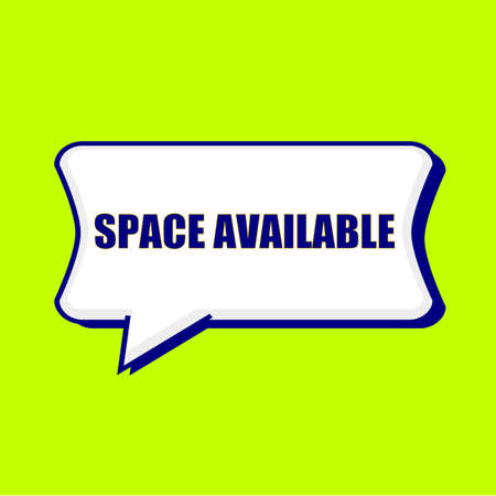 SPACE AVAILABLE blue wording on Speech bubbles Background Yellow lemon Stock Photo