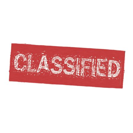 classified: Classified white wording on Background  red wood Board old Stock Photo