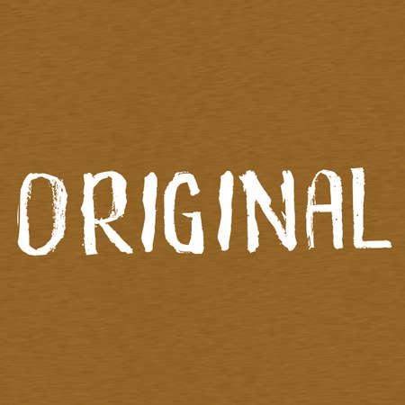 brown wood: original white wording on Background  Brown wood