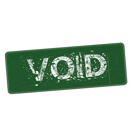the void: void white wording on Background  green wood Board