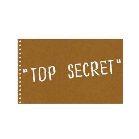 secret word: top secret white wording on Background  Brown wood Board Stock Photo