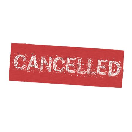 cancelled: cancelled white wording on Background  red wood Board old