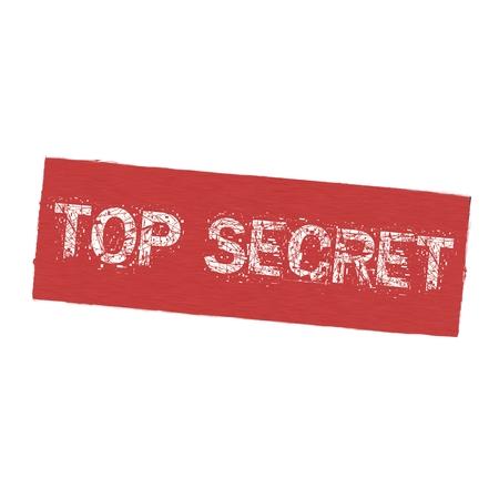 secret word: top secret white wording on Background  red wood Board old