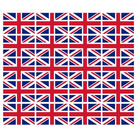 u k: Stamp image of british flag twenty piece