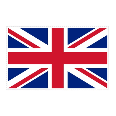 u k: Stamp image of british flag one piece