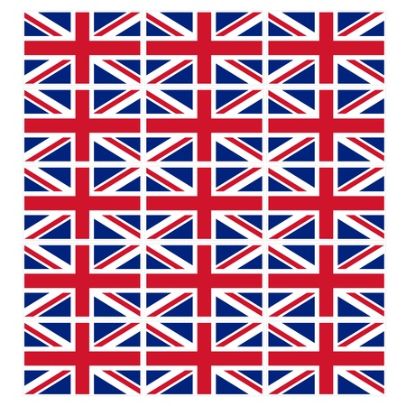 u k: Stamp image of british flag fifteen piece Stock Photo