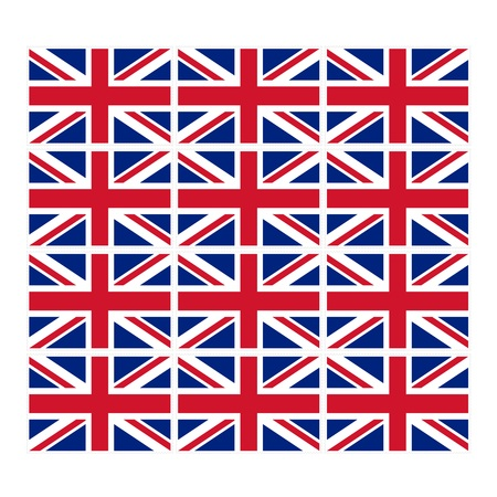 u k: Stamp image of british flag twelve piece