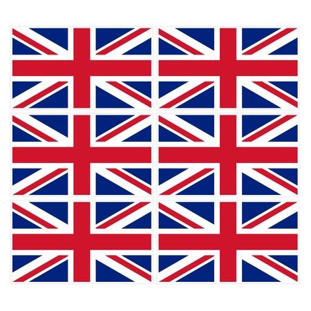 u k: Stamp image of british flag six piece