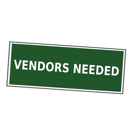 vendors: vendors needed white wording on picture frame Green background