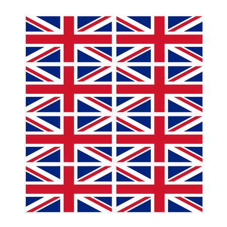 u k: Stamp image of british flag eight piece Stock Photo