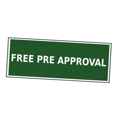 pre approval: free pre approval white wording on picture frame Green background