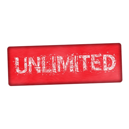 unlimited: unlimited white wording on wood red background Stock Photo