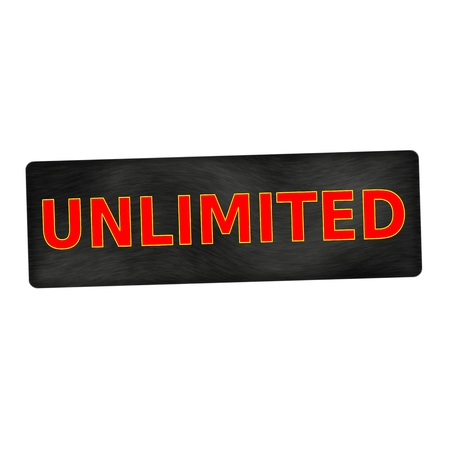 unlimited: unlimited red wording on black wood background