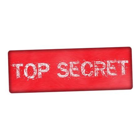 secret word: top secret white wording on wood red background