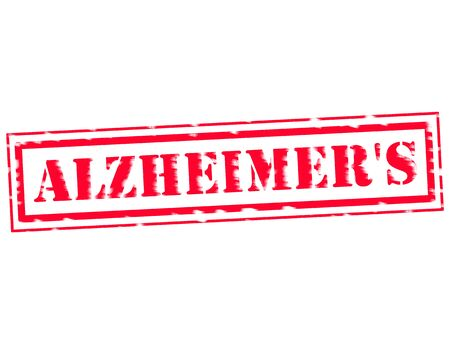 alzheimers: ALZHEIMERS RED Stamp Text on white background Stock Photo