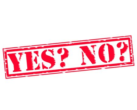 yes no: YES NO RED Stamp Text on white background Stock Photo