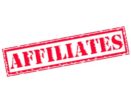 affiliates: AFFILIATES RED Stamp Text on white backgroud Stock Photo