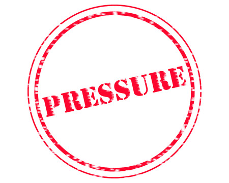 PRESSURE RED Stamp Text on Circle white background