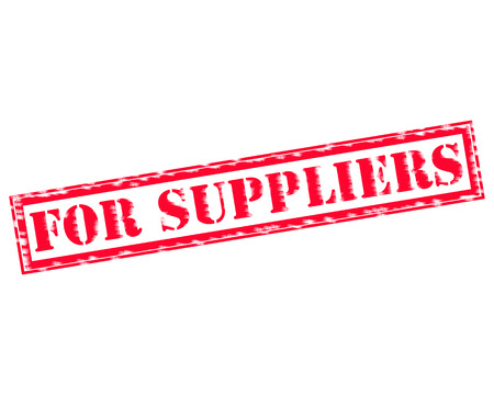 FOR SUPPLIERS RED Stamp Text on white background