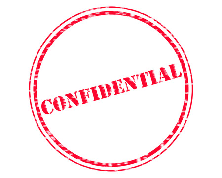 CONFIDENTIAL RED Stamp Text on Circle white background Stock Photo