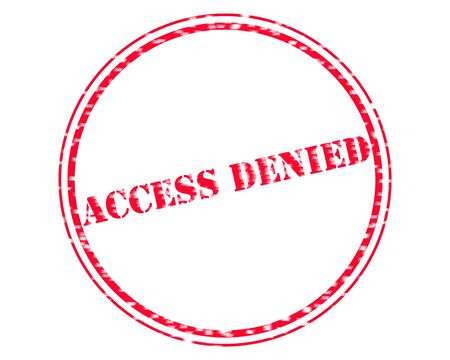 ACCESS DENIED RED Stamp Text on Circle white background