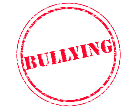 BULLYING RED Stamp Text on Circle white background