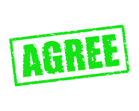 AGREE GREEN Stamp Text on white backgroud