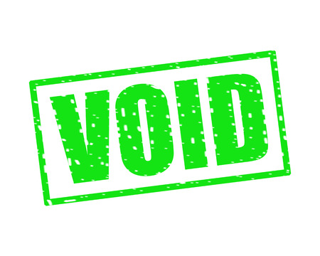 VOID GREEN Stamp Text on white backgroud