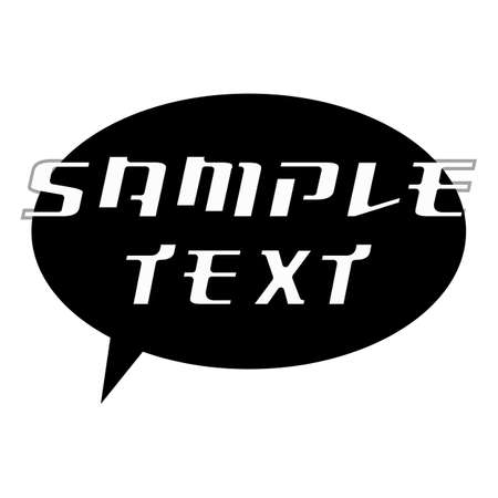 SAMPLE TEXT White Wording on Speech Bubbles Background Black