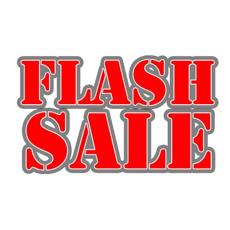 Flash sale Red-White-Gray Stamp Text on white backgroud 写真素材