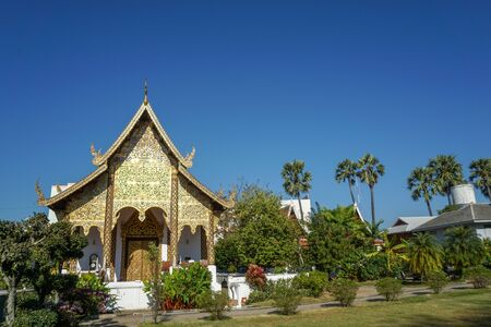 Beautiful landscape of ancient  temple in watchamdevi Temple, lamphun, Thailand Stock Photo