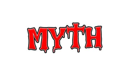 MYTH Red-White-Black Stamp Text on white backgroud 写真素材