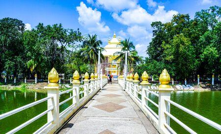 08102019:Nakonphanom, thailand:Phatadphanom(Pagoda) Located at Wat phatadphanom(Temple) landmark of nakonphanom province in thailand.