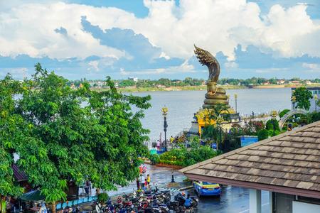 Nakhon phanom,Thailand – October 08,2019 :This is Lan Phanom Naka.It is landmarks along Mekong River , Nakhon phanom , Thailand Editorial