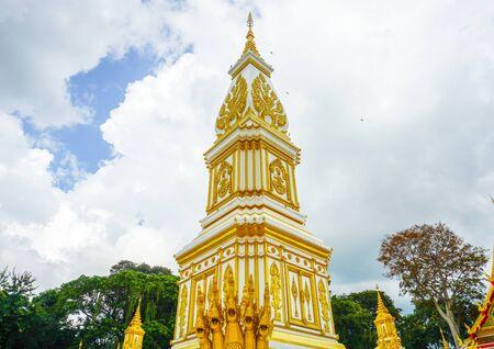 08102019:Nakonphanom, thailand:phra-tha-tum-rukkha-nakhon (Pagoda) Located at wat phra-tha-tum-rukkha-nakhon (Temple) landmark of nakhon phanom province in thailand.