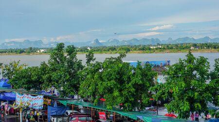 Panoramic view of Nakhon Phanom and Maekhong river