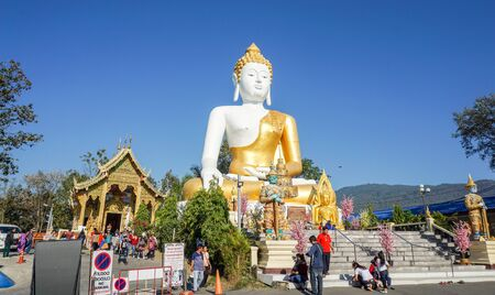 10022019:chiangmai, thailand:Pratadnakhon(Pagoda) Located at wat-pratatdoikam(Temple) landmark of province in chiangmai thailand.
