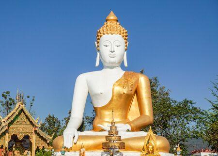 10022019 : chiangmai, thailand : Pratadna Khan(Pagoda) Located at wat-pratatdoikam(Temple) landmark of province in chiangmai thailand.