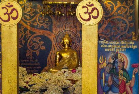 10022019 - chiangmai, thailand : Pratadna Khan(Pagoda) Located at wat-pratatdoikam(Temple) landmark of province in chiangmai thailand.